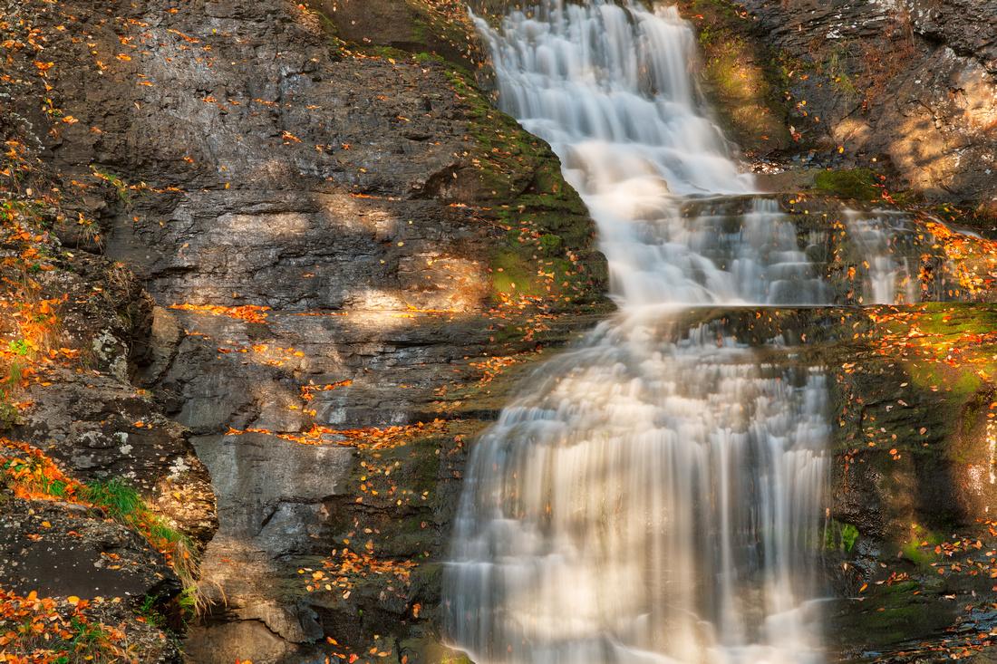 Sunbathed Raymondskill Falls