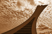 Olympic Stadium Tower - Sepia Nostalgia
